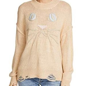 Wildfox Whiskers Cat Sweater SZ M NWT